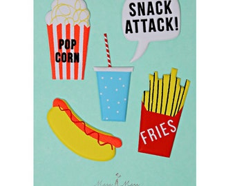 Snack Attack Stickers
