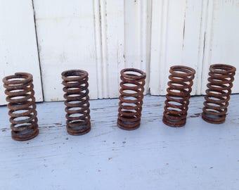 Rusted vintage springs, Set of 5, Rusty springs