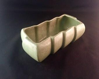 Haeger Light Green Ceramic Planter - Mid-Century Pottery