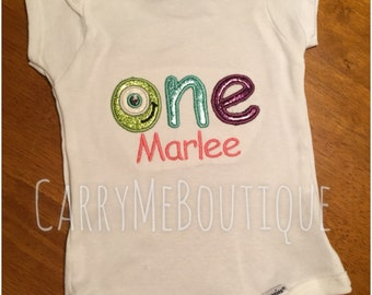 ONE birthday onesie/shirt, Monster One, First Birthday Onesie/Shirt