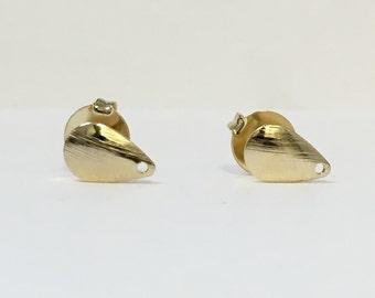 Drop shape earring post. 18/20 Goldfilled earring.