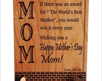 Mother's Day Gift, Personalized Appreciation Gift,Thank you Mom Birthday Gift, Daughter to Mom Gift, Mother's Gift, Son to Mom Gift, PLM023