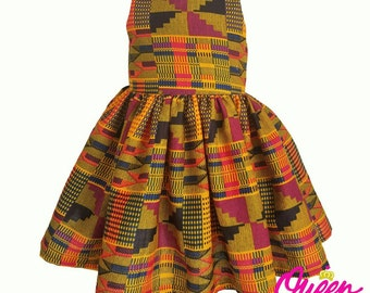 Pink Kente Girls Dress