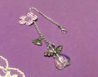 Car Mirror Guardian Angel Charm, Crystal Heart Guardian Angel Hanging Charm / Sun Catcher, Driving Test Pass Gift
