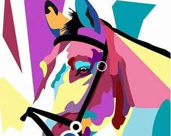 Fragments horse art giclee print