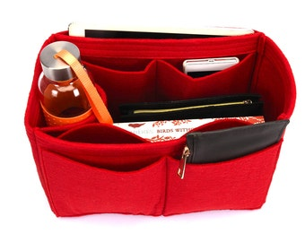 Bag Purse Organizer with One Round Holder  for Louis Vuitton Bags, Purse Insert with One Round Holder ( Express Shipping)