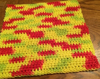 Crocheted Dishcloths Peace