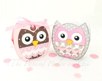Owl Party Bag/Owl Goody Bag/Owl Thank You Bag/Owl Party/Owl Party Favor/Vintage Owl/Owl Party Theme/Owl Baby Shower/Owl Birthday Party