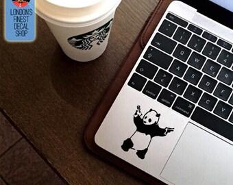 Banksy Panda Trackpad Keyboard Macbook Vinyl Decal / Sticker
