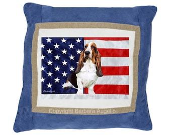Basset Hound Throw Pillow, Basset Hound Gift, Basset Hound Pillow, Basset Hound Art, Basset Hound