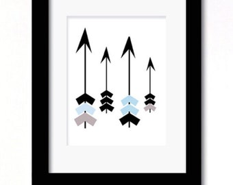 A4 girl or boys arrows print