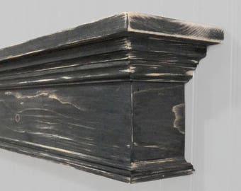 Small Fireplace Mantel, Country Mantel, Floating Wall Shelf, Rustic Mantel Shelf, Mantel, Primitive Mantle, Mantel Shelf, Shabby Chic Mantel