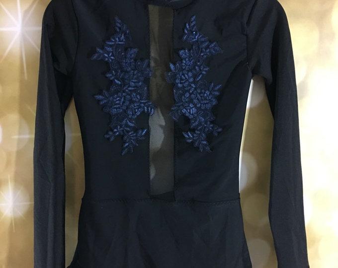 custom leotard, quick ship leotard , plain dan e  costume, plain leotard with mesh and milliskin shiny or matte spandex