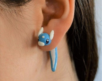 Dratini earring, inpired in Pokemon. Select 1 earring or a pair (2 in ''quantity)