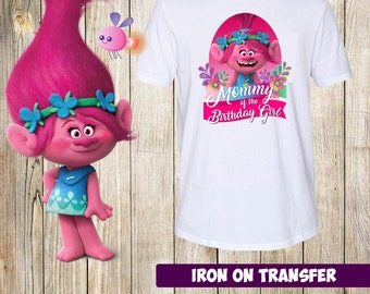 DIGITAL FILE - Trolls Mommy of the Birthday girl, Trolls Mommy Birthday Iron On Transfer - Trolls Birthday Shirt Printable, instant download