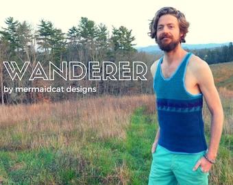 Crochet tank top pattern for men -Wanderer