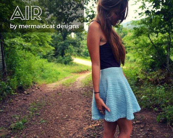 Crochet circular skirt pattern - Air