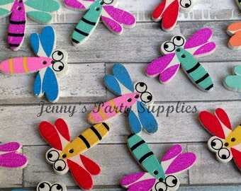 15 Dragonfly Sewing Buttons, Dragonfly Craft Buttons, Sew On Button Embellishments, Children Buttons