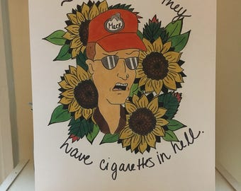 King of the Hill Dale Gribble Print