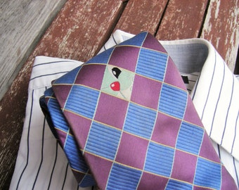 Vintage Necktie, Mens Accessories Mens Necktie, Neckties, Ties FREE SHIPPING, Mens tie, Plaid necktie, Vintage Mens neckties, Retro tie