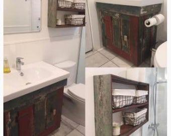 Sink Vanity made from Reclaimed Lumber