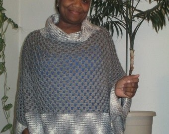 Cowl Neck Poncho PATTERN ONLY