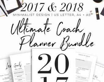 30% OFF 2017-2018 Ultimate Beachbody Coach Planner Bundle - Calendars, Power Hour Tracker, Goals and Habits Worksheets