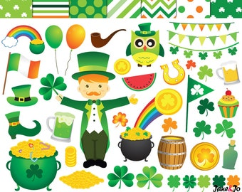 St. Patrick's Day Clipart,St patricks day clipart clip art,Saint Patricks Day Clipart,leprechaun,lucky,Shamrock Clipart,Accessories,clover