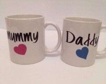 mummy and daddy matching mug/ 256