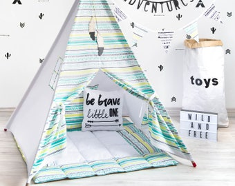 Kids Teepee, Kids Teepee Tent, Boy Teepee Tent, Teepee Tent For Kids, Kids Playhouse, Kids Tipi Tent, Play Teepee, Canvas Teepee,Kids Wigwam
