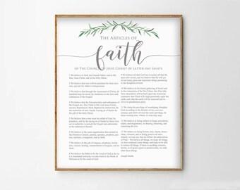 LDS Articles of Faith Print