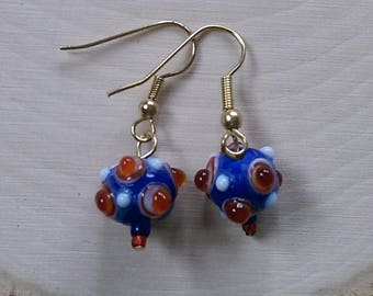 Red Spotted Bauble Earrings