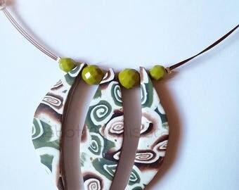 "Murrine charm necklace ""shivashell"""