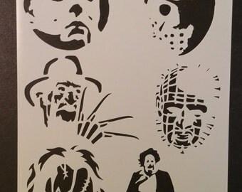 Halloween Freddy Jason Chucky + Custom Stencil FAST FREE SHIPPING