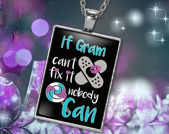 Gram Necklace, Gift for Gram Charm, Gram Charm, Silver Gram Necklace, Grandma Necklace, Nana Names Necklace, Gram Christmas