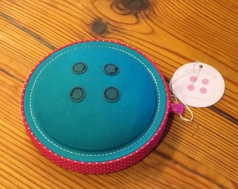 Button It Blue 'Button' style pincushion