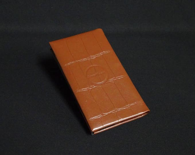 Smartfold-6 Phone Wallet - Brown Crocodile Texture - Fits Apple iPhone 4 5 5S 6 6S 7 - Kangaroo leather with RFID Credit Card Blocking