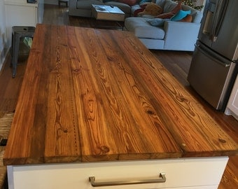 Antique Heart Pine Counter Top