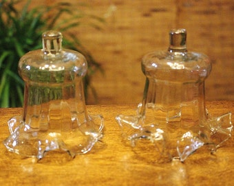 Short Glass Votive Cups Victorian Ruffled Lot 2 Pair Candle Holders for Sconces Vintage Home Interiors HOMCO