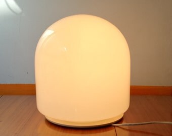 Murano table lamp 1 luce opaline glass Made in Italy 1970s