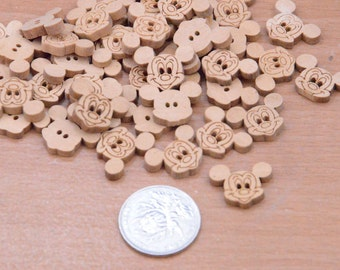 20pcs 19x14mm wooden buttons finding,mickey buttons.Micky charms.Decorative wood button suppies