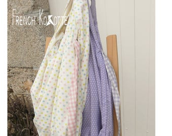 Reversible cotton bag. french Kokotte.