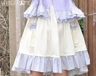 "Dress ""Dolly"" in cotton and wheel vichy. french Kokotte."
