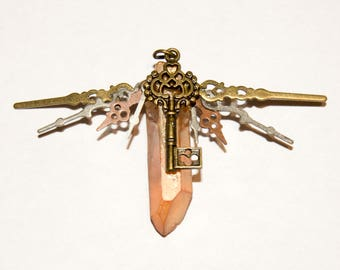 Steampunk Crystal Pendant