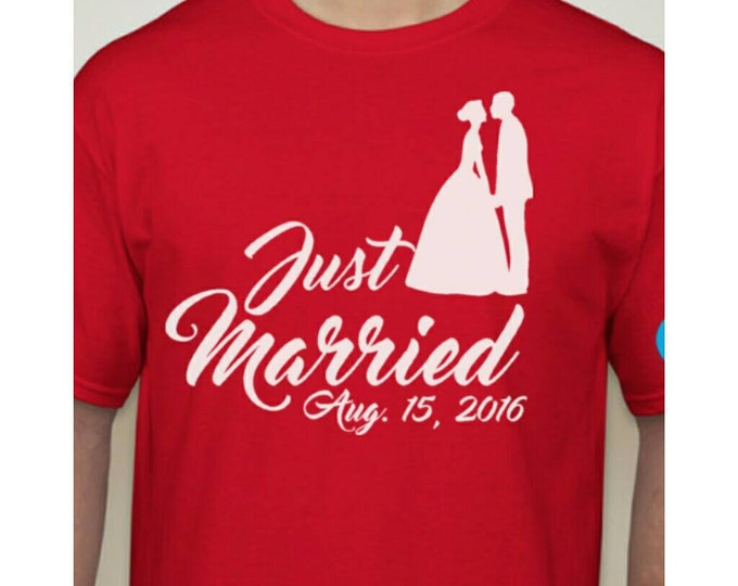 Just married shirt.