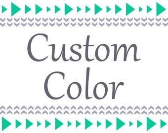 Custom Digital Print Color Change