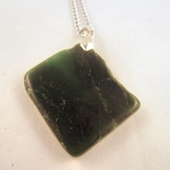 BC Jade Necklace: rock Pendant , gemstone