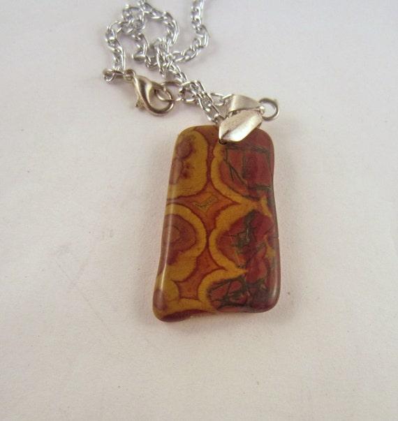 Jasper  Necklace rock Pendant,Agate gemstone