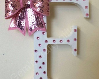 Bow holder. Made in your chosen initial and colours. Perfect For little girl's hair bows