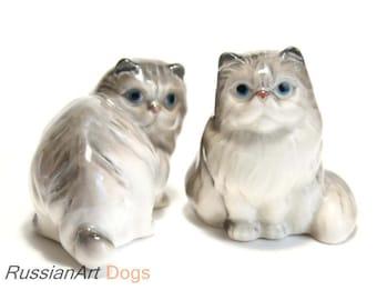 Persian cat porcelain figurine,  statue